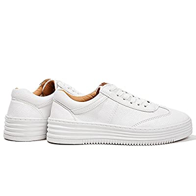 NGRDX&G Chaussures Blanches Femmes Bas Épais Décontracté Sangle Chaussures Simples Chaussures De Sport Décontracté Blanc Femme