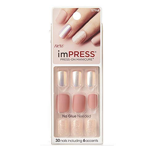 NEW 2016 KISS imPRESS ''NIGHT FEVER'' Press-On Gel Manicure Nails-BIPD051-57943 by imPRESS