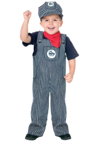 Fun World Halloween Costumes (Fun World Costumes Baby's Train Engineer Toddler Costume, Blue/White, Small (24mos-2T))