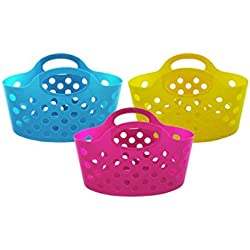24-Packages of Plastic Storage Basket with Handles