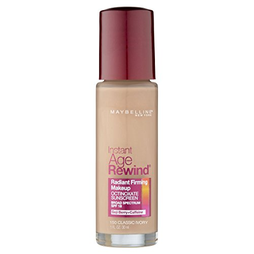 Maybelline New York Instant Age Rewind Radiant Firming Makeup, Classic Ivory 150, 1 Fluid -