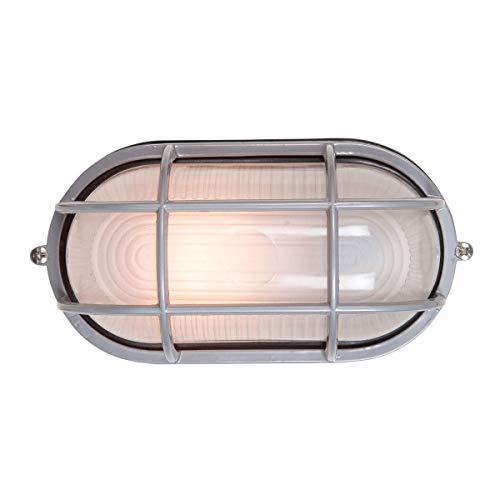 Lighting Fluorescent Bulkhead - Nauticus - Wet Location LED Bulkhead - Satin Finish - Frosted Glass Shade