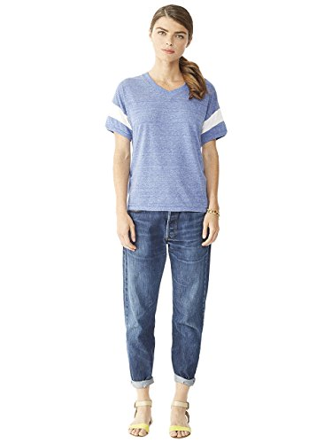 Pacific amp; Alternative Femme Manches Ivory T shirt Solid Eco Courtes Blue OwqF0ZwaA