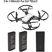 SUKEQ 2 PCS Intelligent Flight Battery for DJI Tello Quadcopter Drone, 1100 mAh 3.8V