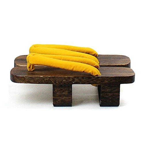 Estilo Japonés De Mujer Geta De Madera Zuecos Sandalias Calzado Amarillo