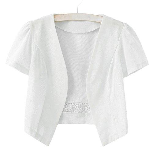 (アッシュランゲル)ASHERANGELレディース ショットジャケット ポレロ カーディガン 薄め 2color