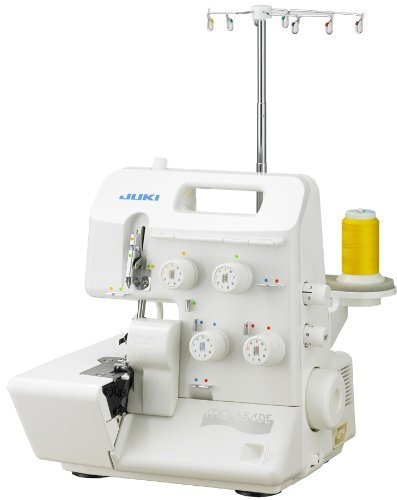 Juki Pearl Line MO-654DE 2/3/4 Thread Overlock Serger with BONUS Items Includes: Juki Electronic Workbook CD and Juki Instructional DVD Video (Renewed) 2/3/4 Thread Overlock Machine