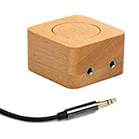 3.5 mm Audio Switch Box by 4minds | 2 Ports Stereo Manual Splitter Box AUX Audio selector | Computer Speakers Headphones Jack Passive Switches 1/8 in | 2(1) IN - 1(2) OUT + Bonus 15 in (38cm) cable