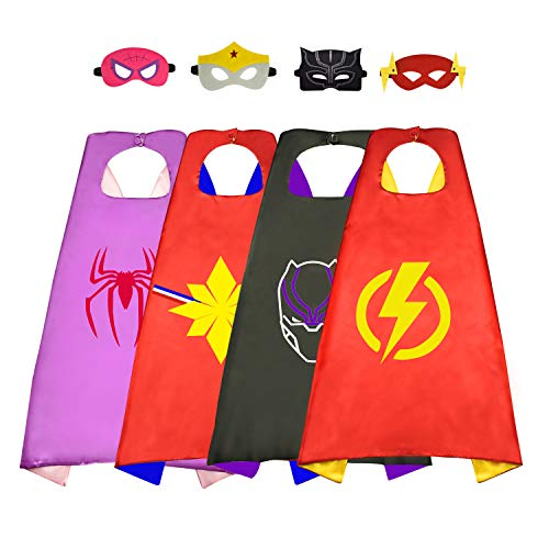 10 Year Old Costumes (Roky Superhero Toys for 3-10 Year Old Girls, Superhero Capes Costumes for Kids Christmas Xmas Stocking Stuffers Stocking fillers Birthday Presents Gifts for 3-10 Year Old Boys Girls Toys Age)