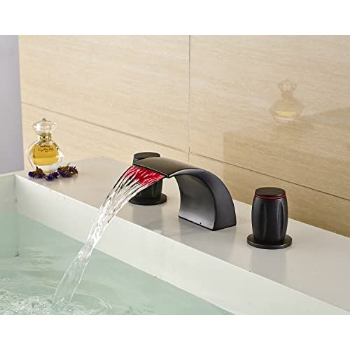 30%OFF Oulantron LED Changing Color Dual Knobs Basin Mixer Tap 3 ...