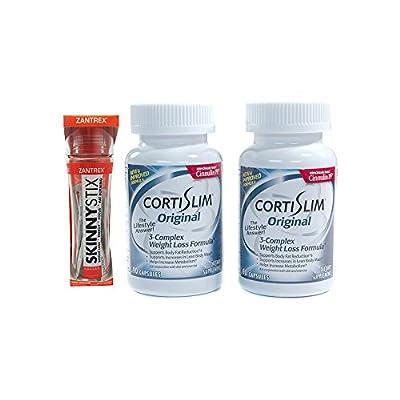 Basic Research Zantrex Skinny Stix Tangerine 25 ea and Cortislim Original Two Bottles