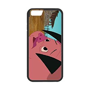 iPhone6s Plus 5.5 inch Phone Case Black Home on the Range Ollie the Pig JOI5660536