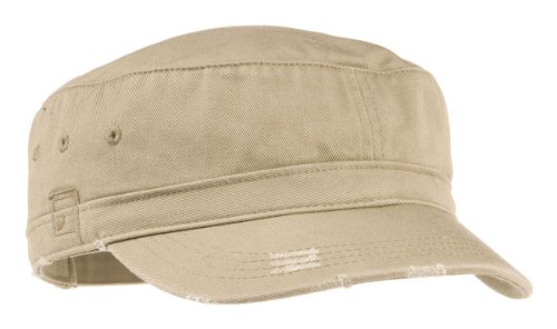 District Threads Distressed Military Hat - Khaki - One Size