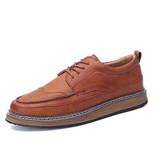 Suela gruesa simples zapatos de verano/Aire de ocio de zapatos Inglaterra hombres marrón