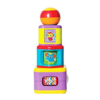 Playgro 6385464 Activity Stacking Towerfor Baby, Infant, Toddler