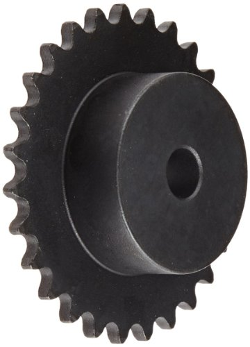 Ametric® 22B15 Metric 22B15 ISO 05B-1 Hub Steel Sprocket 15 Teeth For Ametric® No. 22 Single Strand Chain with, 8mm Pitch, 3mm Roller Width, 5mm Roller Diameter, 7 mm Pilot (MPB) Bore +/-1mm (d1), (Mfg Code (7 Mm Single Strand)