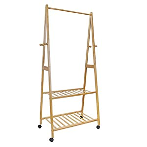 hapilife 3 in 1 wooden coat stand hanging clothes rail. Black Bedroom Furniture Sets. Home Design Ideas