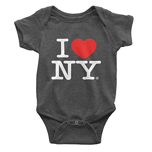 - I Love NY Charcoal Baby Bodysuits Officially Licensed New York Infant (6m)