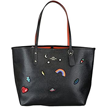 ddc6434cdeba5 50% off coach city tote with souvenir embroidery womens leather bag f6cc1  17c92