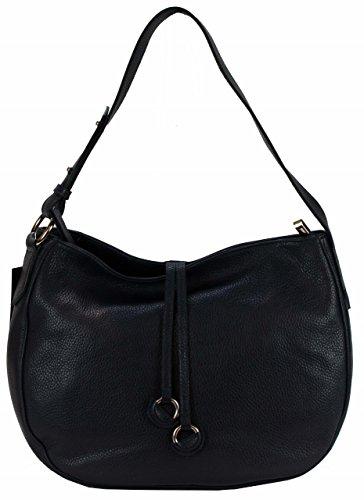 6556ceda96dca Bozana Bag Ida Dunkelblau Blau Italy Designer Damen Handtasche  Schultertasche Ledertasche Tasche Wildleder Prägung Shopper Neu