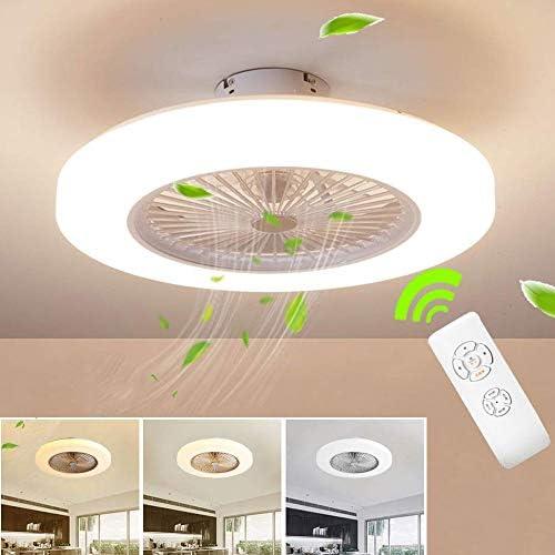 Ventilador Con Bombilla BEHWU Ventilador de techo Lámpara de techo