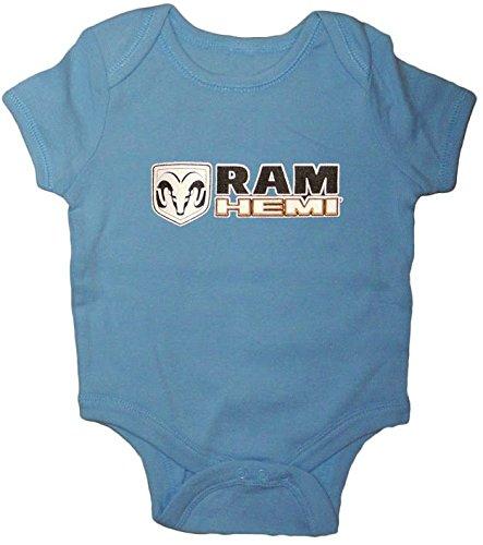 Dodge Ram Hemi Decal Blue infant romper 6-12 ()