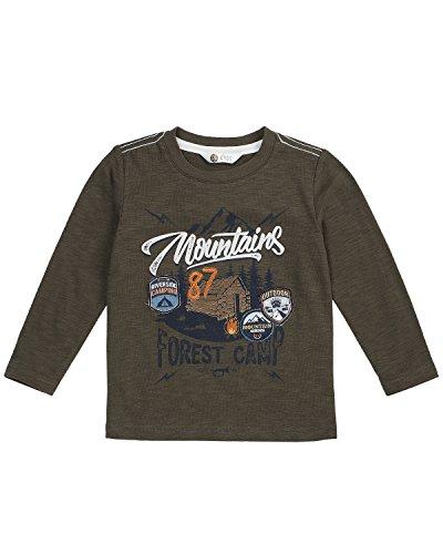 (Petit Lem Boys' Little' Wolf Pack L/s Knit T-Shirt, Khaki, 5)