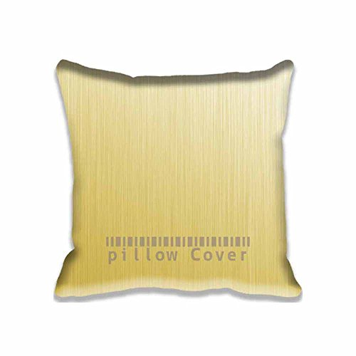 Gold Rush Minimal Texture Pillow Protector Home Décor Squar