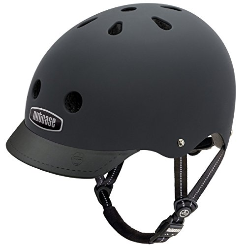 Nutcase Solid Street Bike Helmet for Adults, Blackish Matte, Large