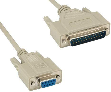 D Sub 25 Position Plug 3 ft 900 mm Pack of 2 45-2503 Putty Computer Cable D Sub 25 Position Plug 45-2503