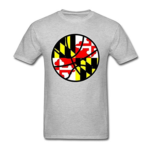 fan products of Nicesne Maryland Flag Basketball Symbol T Shirt For Men