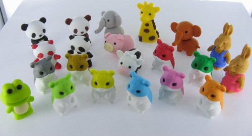 Japanese Iwako Puzzle Erasers: Frogs, New 2010 Jan Release F