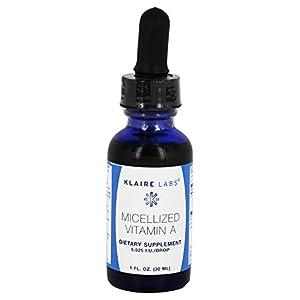 Klaire Labs Micellized Vitamin A 1 oz.