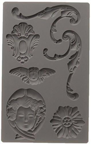 Prima Marketing 814779 Baroque No.1 Iron Orchid Designs Vintage Art Decor Mold, Grey ()
