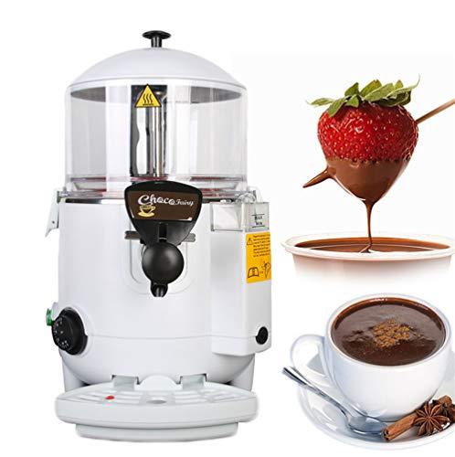 (NEWTRY 5L(1.32 Gallons) Hot Chocolate Maker Commercial Hot Beverage Dispenser Machine 30~90℃ Adjustable for Milk Coffe Tea (110V,)