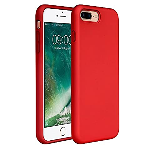 iPhone 8 Plus Silicone Case, iPhone 7 Plus Silicone Case Miracase Silicone Gel Rubber Full Body Protection Shockproof Cover Case Drop Protection for Apple iPhone 7 Plus/ iPhone 8 - Cases and Covers