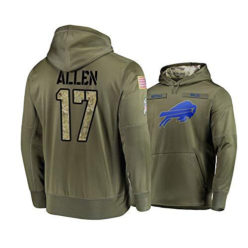 Dunbrooke Apparel Buffalo Bills #17 Josh Allen Mens Salute to Service Hoodie - Olive XL (Best Of Hoodie Allen)