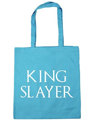 HippoWarehouse King Slayer Tote Compras Bolsa de playa 42cm x38cm, 10litros azul (Surf Blue)