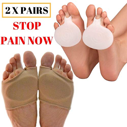 MEDIZED Metatarsal Cushion Silicone Gel Pad Ball of Foot Pain Fore Foot Shoe Insole Toe Pain Relief