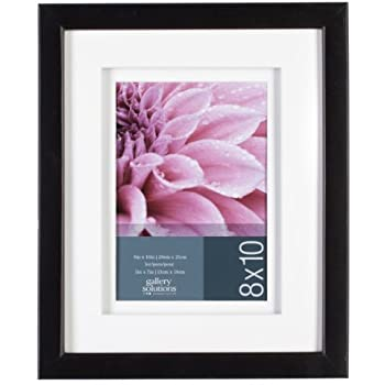 gallery solutions black gallery frame 8 by 10 inch matted to 5 by 7 inch