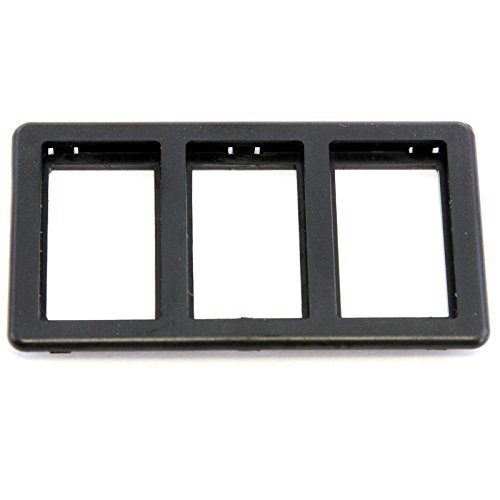 Red Hound Auto Switch Bezel Black 3-Slot Compatible with Jaguar XJS 1989-1996 for Power Windows (Sunroof or Convertible Top) ()