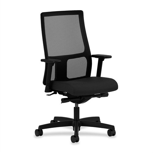 HON Ignition Series Mid-Back Work Chair - Mesh Computer Chair for Office Desk, Black (HIWM2) from HON