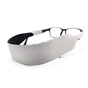 Eyewear Retainer Adjustable Neoprene Floating Sunglass Straps and Eyeglass Holder - Fits both Small & Over-sized glasses - Secure fit for your glasses and eyewear (Grey)