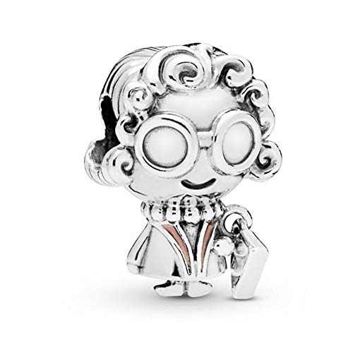Romántico Amor Mrs. Wise Charm Grandma 925 Sterling Silver Bead fit Pandora Bracelets