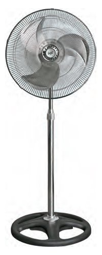 Comfort Zone Adjustable Oscillating Pedestal Fan | 3 Speed, Standing Fan with Powerful Air Distribution