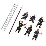 B Blesiya 6pcs HO Scale Fireman Model Miniatures for Sand Table Scenery Diorama Layout