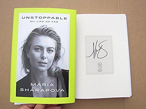 (Maria Sharapova Wimbledon Grand Slam Champion signed book Unstoppable: My Life So)