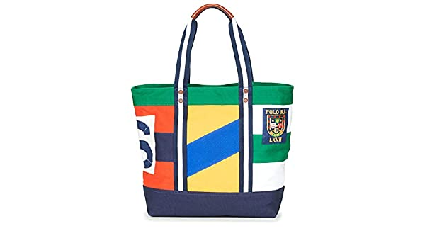 Polo RALPH LAUREN YL PTCHW TTE Bolso Shopping Mujeres única ...
