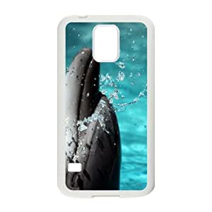 Samsung Galaxy S5 Cell Phone Case White Dolphin IMN Generic Clear Phone Cases