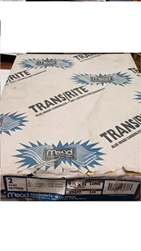 Mead TransRite Blue Image 23677 NCR Paper 2 Part Carbonless 8 1/2'' x 11'' Sold Loose in Packges of 100 Sheets Picture of Package for Product Identification Purposes Only by TransRite